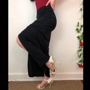 Sexy black maxi skirt